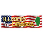 Illinois for Obama Bumper Sticker (10 pk)