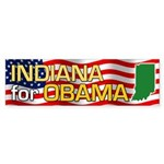 Indiana for Obama Bumper Sticker (10 pk)