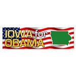 Iowa for Obama Bumper Sticker (10 pk)