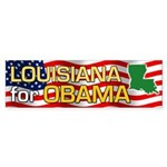 Louisiana for Obama Bumper Sticker