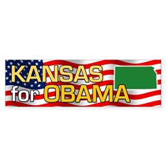 Kansas for Obama Bumper Sticker