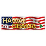 Hawaii for Obama Bumper Sticker