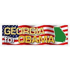 Georgia for Obama Bumper Sticker