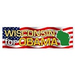 Wisconsin for Obama Bumper Sticker (50 pk)