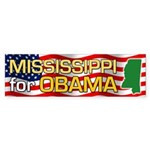 Mississippi for Obama Bumper Sticker (50 pk)