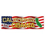 California for Obama Bumper Sticker (10 pk)
