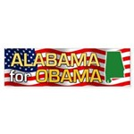 Alabama for Obama Bumper Sticker (10 pk)