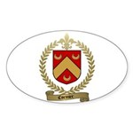CORMIER Family Crest Oval Sticker