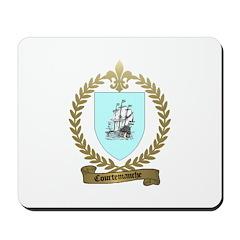 COURTEMANCHE Family Crest Mousepad