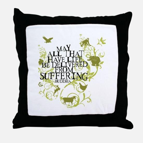 Buddha Vine - Animals Throw Pillow