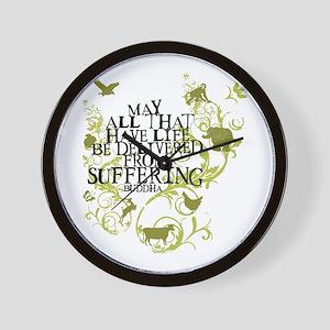 Buddha Vine - Animals Wall Clock