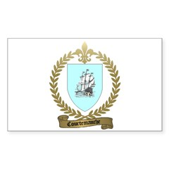 COURTEMANCHE Family Crest Rectangle Decal