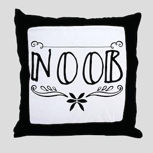 n00b Throw Pillow