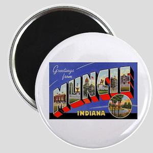 Muncie Indiana Greetings Magnet