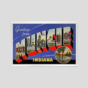Muncie Indiana Greetings Rectangle Magnet