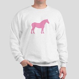 Pink Draft Horse Sweatshirt