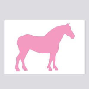 Pink Draft Horse Postcards (Package of 8)