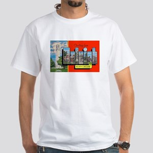 Raleigh North Carolina Greetings White T-Shirt