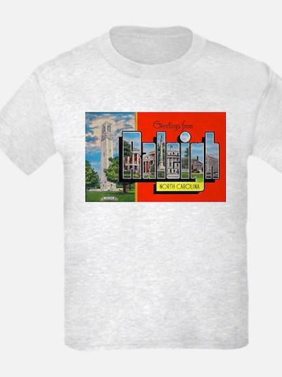 Raleigh North Carolina Greetings T-Shirt