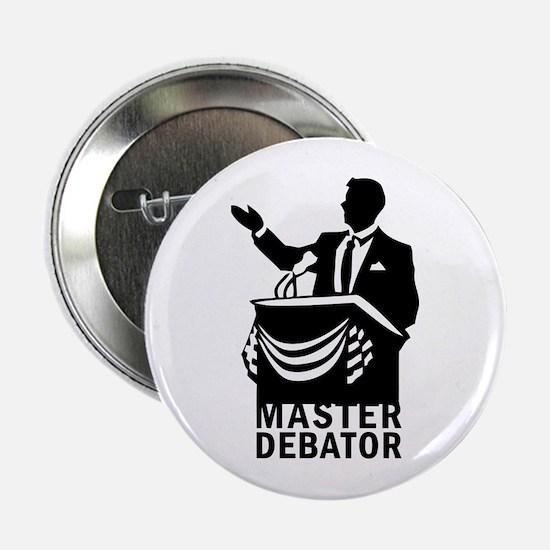 "Master Debator 2.25"" Button"