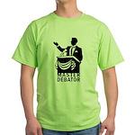 Master Debator Green T-Shirt