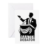 Master Debator Greeting Cards (Pk of 10)