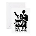 Master Debator Greeting Cards (Pk of 20)