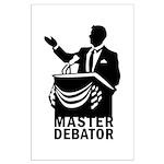 Master Debator Large Poster