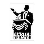 Master Debator Mini Poster Print
