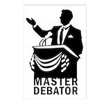 Master Debator Postcards (Package of 8)