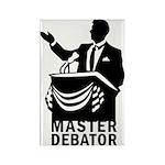 Master Debator Rectangle Magnet