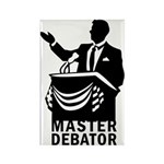 Master Debator Rectangle Magnet (10 pack)