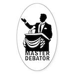Master Debator Oval Sticker (10 pk)