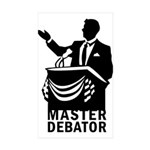 Master Debator Rectangle Sticker 10 pk)