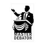 Master Debator Rectangle Sticker 50 pk)