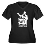 Master Debator Women's Plus Size V-Neck Dark T-Shi