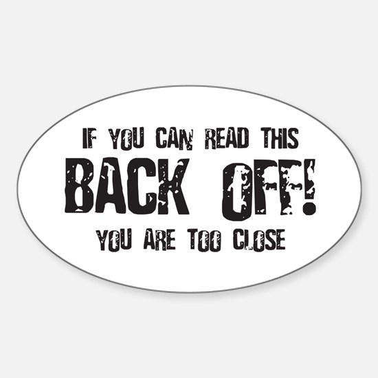 Back off! Oval Decal