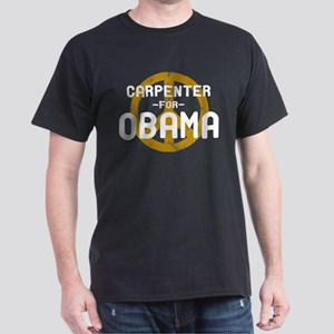 Carpenter for Obama Dark T-Shirt