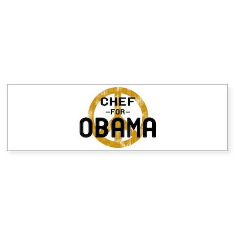 Chef for Obama Bumper Sticker