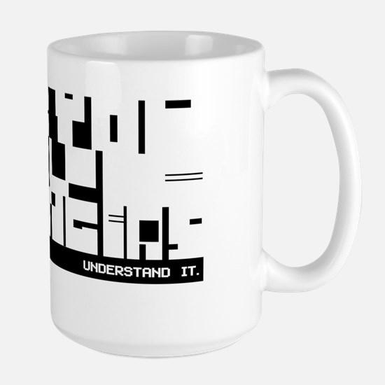 Aspergers Attitude in block code - Large Mug
