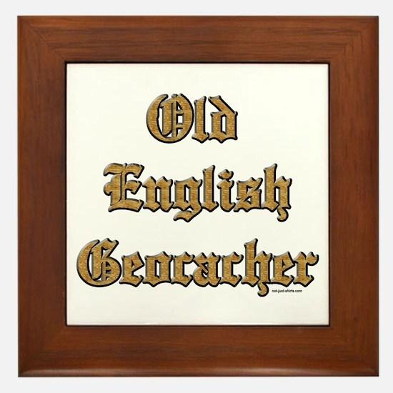 Old English Geocacher Framed Tile