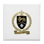 CROTEAU Family Crest Tile Coaster