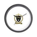 CROTEAU Family Crest Wall Clock