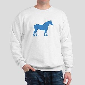 Blue Draft Horse Sweatshirt