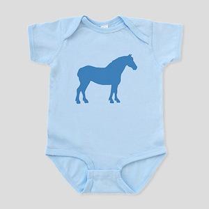 Blue Draft Horse Infant Bodysuit
