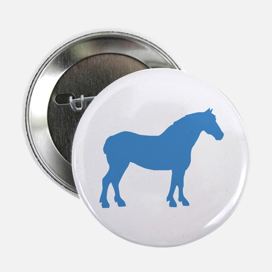 "Blue Draft Horse 2.25"" Button"
