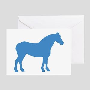 Blue Draft Horse Greeting Card