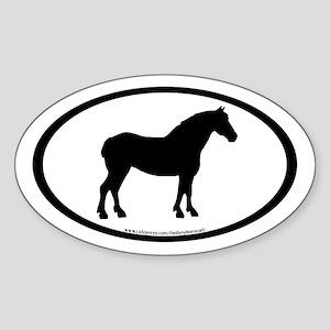 Draft Horse Oval Oval Sticker