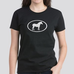 Draft Horse Oval Women's Dark T-Shirt