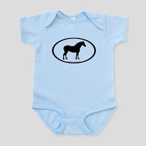 Draft Horse Oval Infant Bodysuit